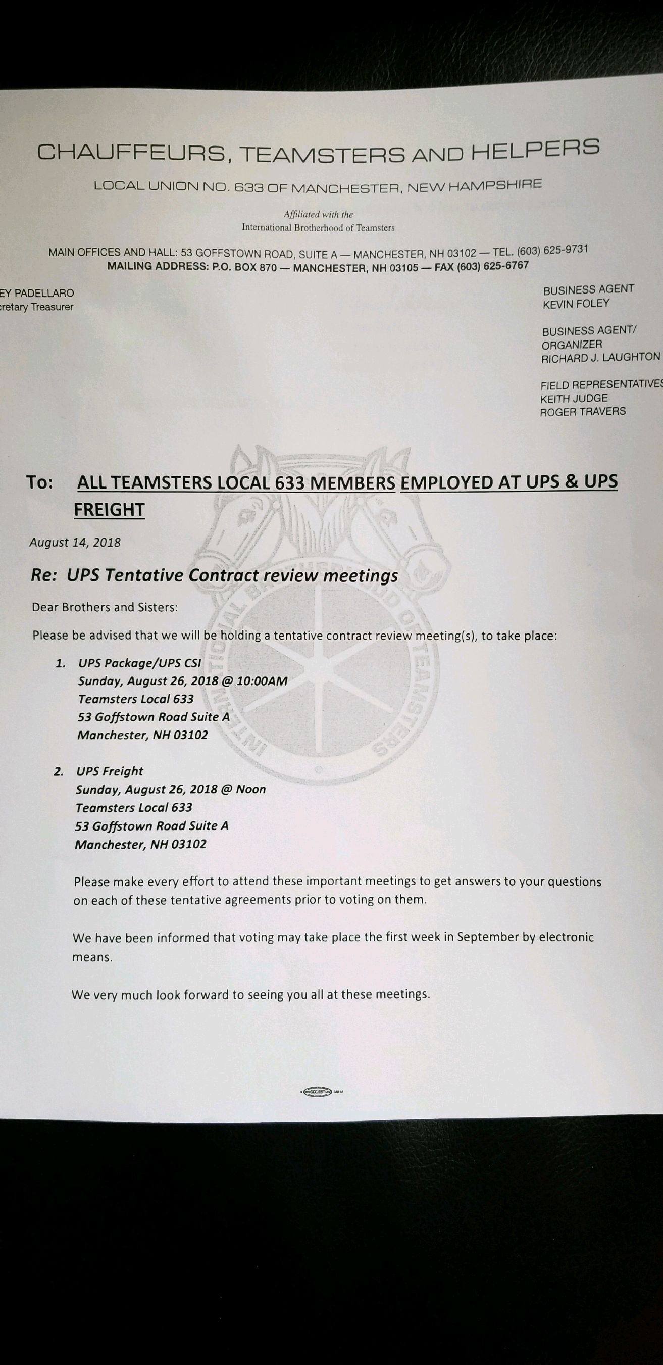 United Parcel Service - Teamsters Local 633